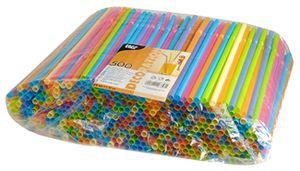PAPSTAR Shake Trinkhalme flexibel farbig sortiert 500 Stück