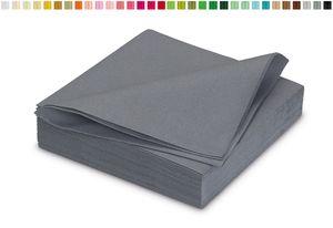 25 stoffähnliche Servietten 40x40cm in , Farbauswahl:grau 080