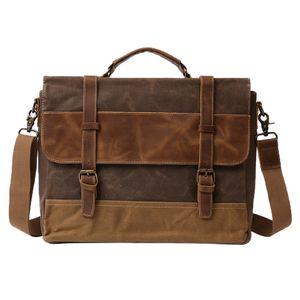 Männer Umhängetasche Leder Herrentasche Laptoptasche Arbeitstaschen Businesstasche Schultertasche Messenger Bag für Arbeit und Schule