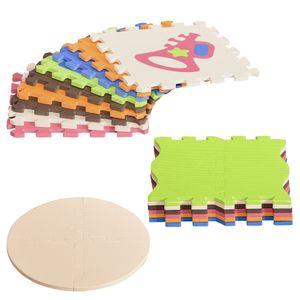 HOMCOM Puzzlematte 25 Teile mit Zahlen Kinderspielteppich Matte Spielmatte Bodenschutzmatte Bodenmatte für 0-14 Monate EVA Bunt 120 x 90,5 x 16,5 cm