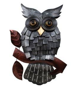 Wanddeko Eule Vogel Uhu Ziervogel Metall Deko Hänger Bild Tier Figur Skulptur