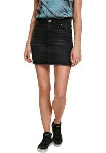 Urban Classics Rock Ladies Denim Skirt Real Black Washed-33