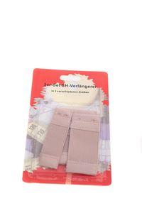 3er Set BH Verlängerer, BH Verlängerung, Erweiterung elastisch, 3 Größen, Farbe: Beige