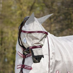 Horseware Rambo Plus Flymask Vamoose - Oatmeal/Black-Burgundy, Größe:M