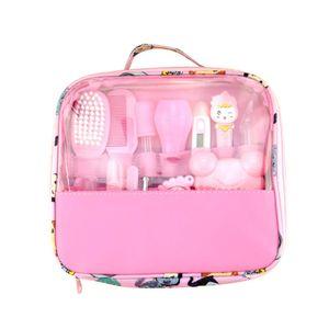 Baby Grooming Set, Healthcare Kit-13Pcs, Thermometer Maniküre Set Baby Nagelpflege Baby Haarbürste für Neugeborene, Kleinkind (Pink)