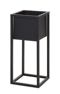 Blumentopfständer Metall eckig - schwarz - Modell: 50 cm