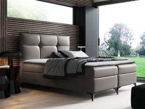 Mirjan24 Boxspringbett Figaro, Stilvoll Polsterbett, zwei Bettkästen, Doppelbett (Farbe: Soft 029, Größe: 120x200 cm)