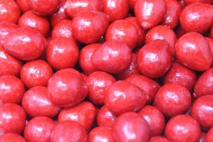 Kaugummi Kugeln in Erdbeer Optik mit Brausepulver Füllung 1000g