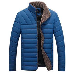 Herren Casual Winter Solid Warm Button Langarm Jacke Mantel Outwear Tops Größe:XXXL,Farbe:Hellblau