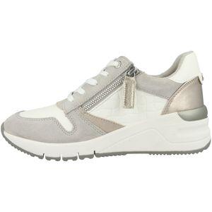Tamaris Damen Low Sneaker 1-23702-26 Weiß 197 White Comb Leder und Textil mit Herausnehmbare Innensohle, Groesse:40 EU