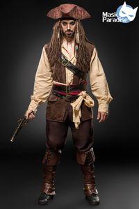 Kostümset Captain Jack / Piraten Kostüm Größe L