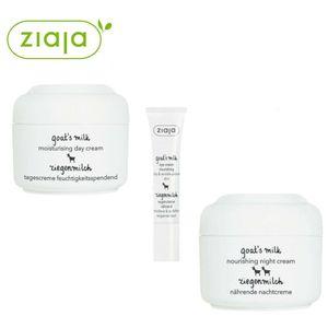 Ziaja set Goat's Milk Day Cream 50ml + Night Cream 50ml + Eye Cream 15ml