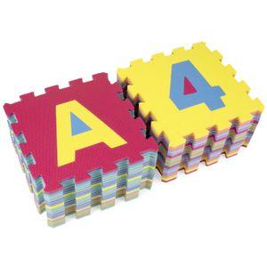 KIDUKU 86-tlg Puzzlematte Kinderteppich Spielmatte Spielteppich Matte