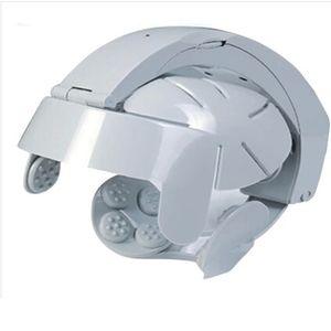 Elektrischer Kopfmassagegerät mit 8 Massagearten, Intensität verstellbar, Akupunkturpunkte, Massage-Helm, Grau