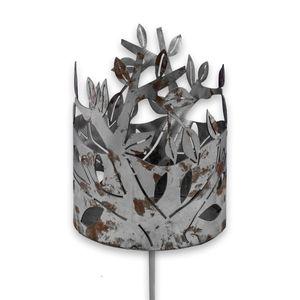 """Edelrost-Gartenfackel, ca.130 cm, Motiv """"Blätter"""""""
