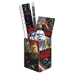6 tlg. Star Wars Stiftebox Stifteköcher Schreibtisch Organizer Stiftehalter