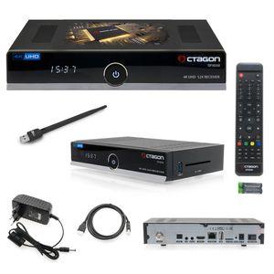 Octagon SF8008 4K UHD inkl. Wifi Stick Wlan E2 DVB-S2X Single Sat Tuner Linux IPTV Multiroom Receive