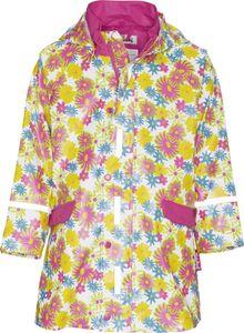 Playshoes Regen-Mantel Blumendruck, in weiß, Größe 86