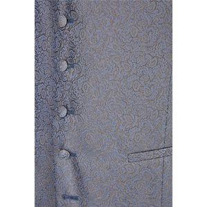 Größe 98 WILVORST After Six Hotline Slim Line Weste Blau mit Muster Einreiher 5-Knopf Leistentaschen