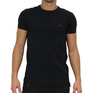 Tommy Hilfiger Core Stretch Slim Fit T-Shirt Herren Schwarz (867896625083) Größe: XL