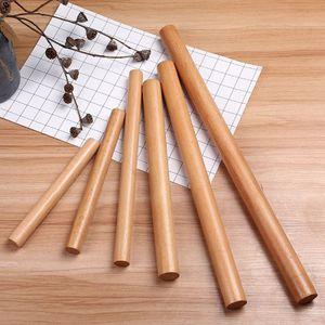 4 Stück / Satz Massivholz-Nudelholz-Buchenholz-Nudelholz / 4 Längen-Kits
