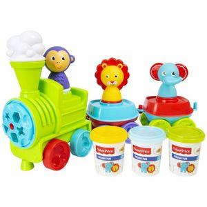 Fisher Price Spielset Zug mit Knete, Figuren, Zubehör, für Kinder ab 2 Jahren