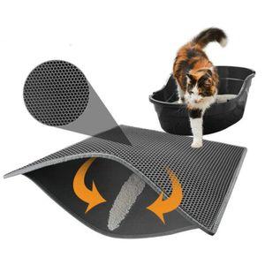 Grau 30x30cm 2 Schicht Katzenklo Katzenstreu Matte Vorleger Wasserdicht Unterlage Rutschfest