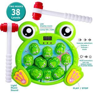 Interaktives Spiel Hammerspiel Spielzeug, Frog Feinmotorik,  Montessori Spielzeug für Jungen Mädchen