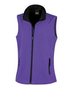 Result Damen Softshell Bodywarmer Weste, Größe:XL (16), Farbe:Purple/Black