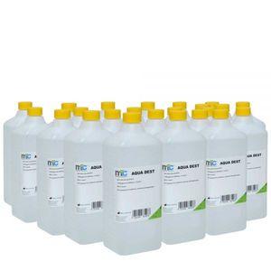 Medicalcorner24 Destilliertes Wasser AQUA DEST, unsteril und mikrofiltriert, 23x 1 Liter
