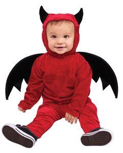 Teufelchen Babykostüm für Fasching & Halloween Baby Größe: S