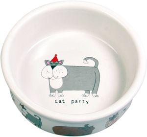 Keramiknapf, Katze, 0,2 l/ø 12 cm, weiß