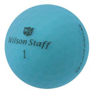 12 x Wilson Staff DX2 Soft Optix - PearlSelection - matt blau - Lakeballs