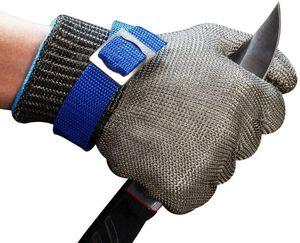 Schnittschutz Handschuhe Edelstahl-Metal Mesh Metzgerhandschuh mit,Schutzgrad 5(M)