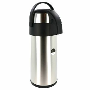 Airpot 5,0 L Pumpkanne Isolierkanne Thermo Kanne Kaffeekanne Camping Edelstahl