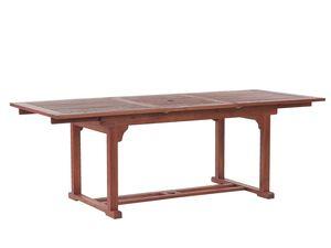Praktischer, rechteckiger Gartentisch aus Holz ausziehbar 160/220 x 90 cm Gartenmöbel, Holzmöbel, Garten