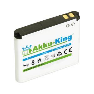 Akku kompatibel mit Nokia BP-6X, BP-5X - Li-Ion 750mAh - für 8800, 8801 Sirocco