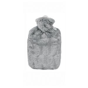 HUGO FROSCH 0570 Wärmflasche Klassik Soft, Tierfelloptik, 1,80 l, grau