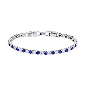 Swarovski Armband 5506253 Tennis Deluxe, blau, Rhodiniert