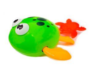 Badespielzeug Frosch Grün Aufziehspielzeug Badewanne Spielzeug NEU &