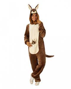 Kuscheliges Känguru Plüsch Kostüm für Halloween und Karneval Größe: S/M