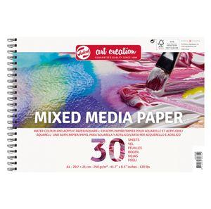 Talens Mixed Media Paper, 250g/m², 30 Blatt DIN A4