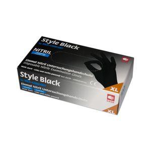 AMPri STYLE BLACK Nitrilhandschuhe schwarz puderfrei 100 Stück Gr. L
