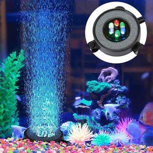 LED Aquarium Bubbler Farbwechsel Lampe Luftblase Stein Fish Tank Bubble Dekoration Aquarien Beleuchtung