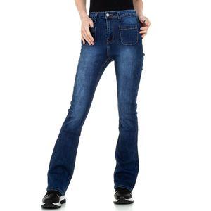 Ital-Design Damen Jeans Bootcut Jeans Dunkelblau Gr.s/36
