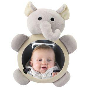 Baby Rückspiegel Auto Innenraum Rückspiegel Kleinkinder Kinder Plüsch Cartoon grauen Elefantenbabys  Spielzeug