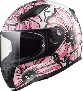 LS2 FF353 Rapid Poppies Helm Farbe: Weiß/Pink, Grösse: XS (53/54)