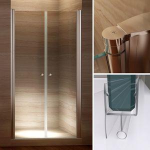 i-flair Duschtüren 80-84 cm, Duschabtrennung aus 6mm Sicherheitsglas mit Nanobeschichtung - Verstellbereich von 80-84 cm