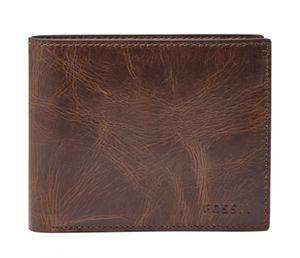FOSSIL Derrick Large Pocket Bifold Dark Brown