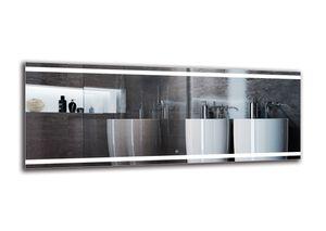 LED Spiegel DELUXE - 180x70 cm - Touch Schalter - Badspiegel mit LED Beleuchtung - Berührungsschalter -LED Lichtfarbe - Weiß warm 3000K - Wandspiegel - Arttor - M1CD-27-180x70
